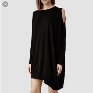 All Saints Sago Dress Black